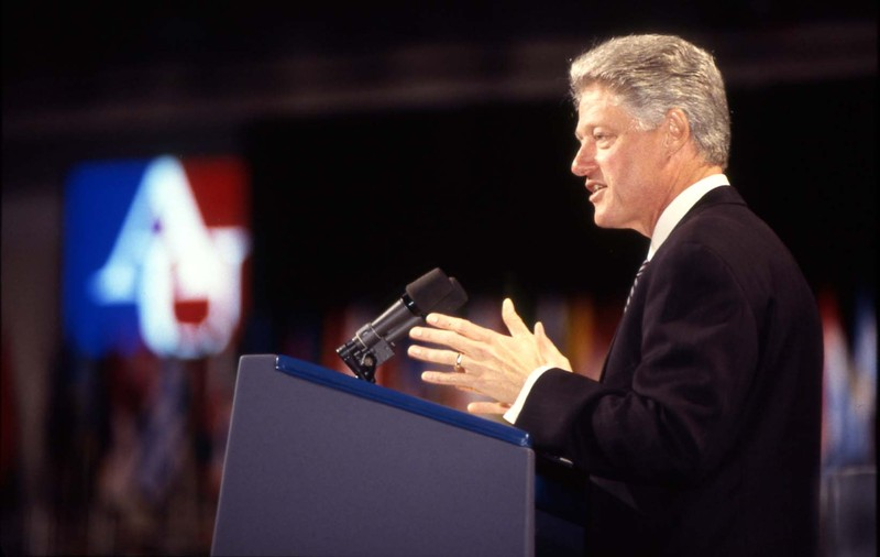 President Bill Clinton at AU, 1997