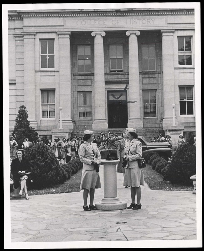 Red Cross Graduates outside Hurst Hall