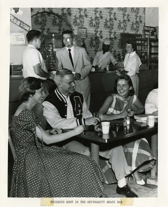 Students Meet in the University Snack Bar