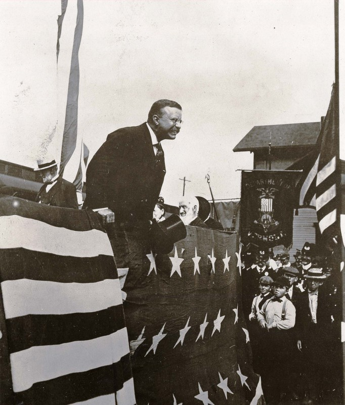 President Theodore Roosevelt at cornerstone laying