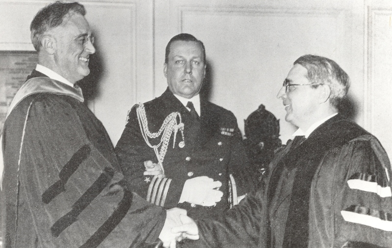President Franklin Delano Roosevelt at Gray Inauguration