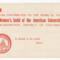 College of Comparative Religion donation certificate, undated