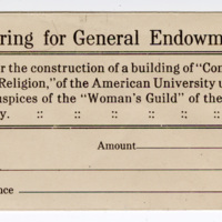 Woman's Guild College of Comparative Religion offering envelope, undated