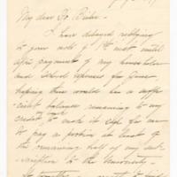 Letter to Samuel L. Beiler from Elizabeth J. Somers, 06 July 1897