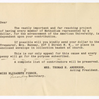 Woman's Guild appeal to Methodists, undated