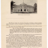 Woman's Guild College of Comparative Religion solicitation letter, undated