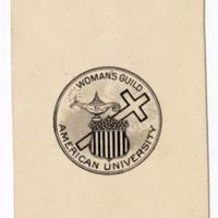Woman's Guild emblem card, undated