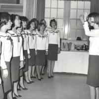 Phi Mu Girls, Songfest Winners, Entertain at Alumni Day Luncheon May 1964