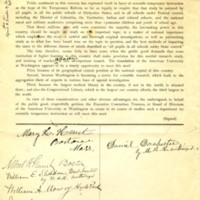 Petition to the American University 12 September 1894