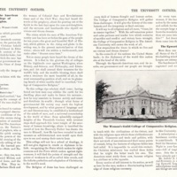 """""""The Woman's Guild of the American University - The College of Comparative Religion,"""" The Courier, July 1901"""