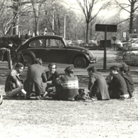 Milling on the Quad, March 18, 1966