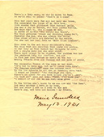 Poem about Mussey, 1921