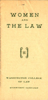 """Women and the Law Endowment,"" circa 1923"