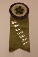 Ellen Spencer Mussey's marshal ribbon from the Woman Suffrage Procession in Washington, D.C., 1913