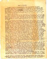 """Account of Gillett's 70th Birthday Dinner,"" circa 1922"