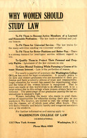 """Why Women Should Study the Law,"" undated"
