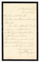 Letter to Rev. Samuel L. Beiler from Mary E. Graydon, 09 April 1897