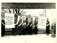 """The first picket line"" photograph, February 1917"